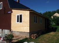 Пристройка кухни к деревянному дому 7х3