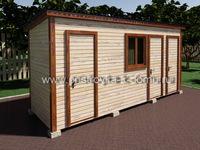 Дачный душ деревянный 5х1.5