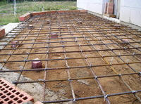 Фундамент под террасу 2х5 плита