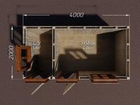 Хозблок под душ 4х2