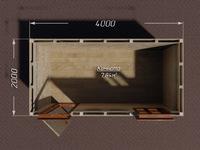 Садовый хозблок 4х2