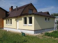 Пристройка к дому из газобетона 6х4