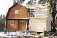 Жилая пристройка к деревянному дому 5х4