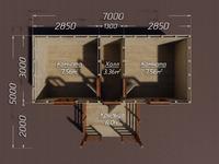 Хозблок дачный деревянный 7х5