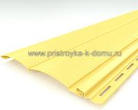 Сайдинг ТЕСOS двойной оцилиндрованный брус светло желтый